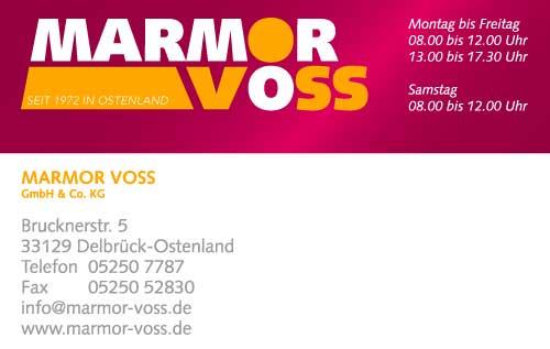 Marmor-Voss-Visitenkarte